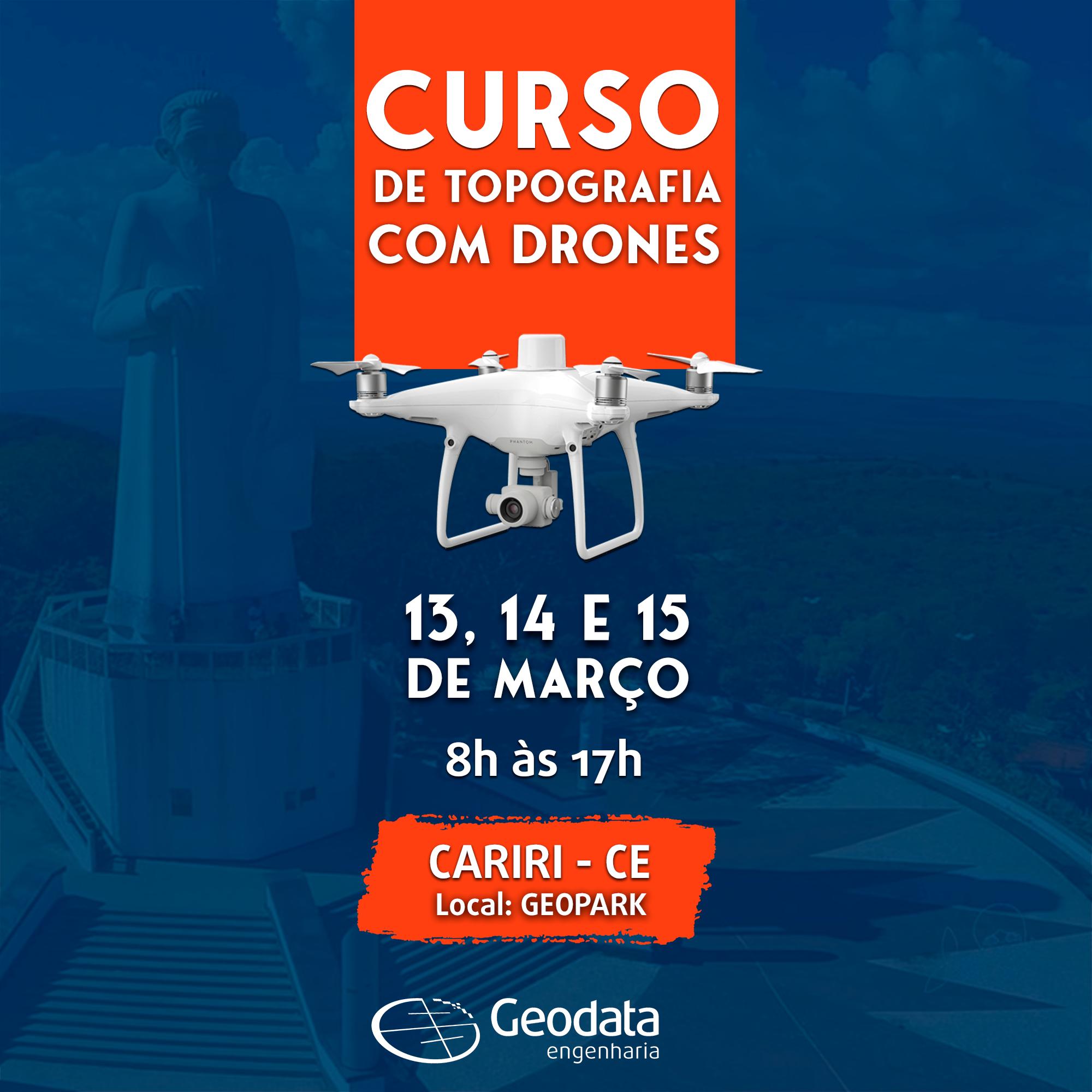 Março: Curso de Topografia com Drones